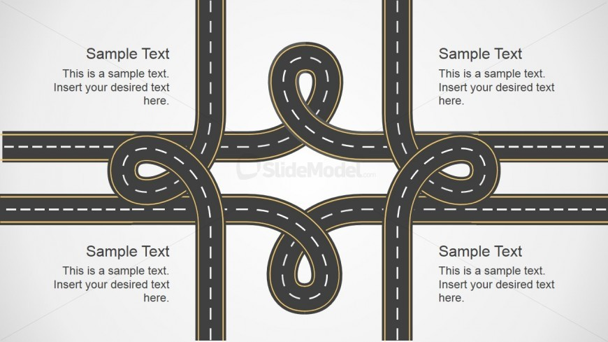 Road Knots PowerPoint Graphic