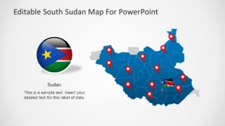 Editable South Sudan Map for PowerPoint
