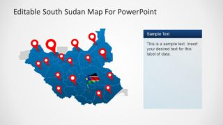 Editable Outline Map PowerPoint