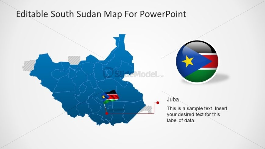 Map Template of South Sudan