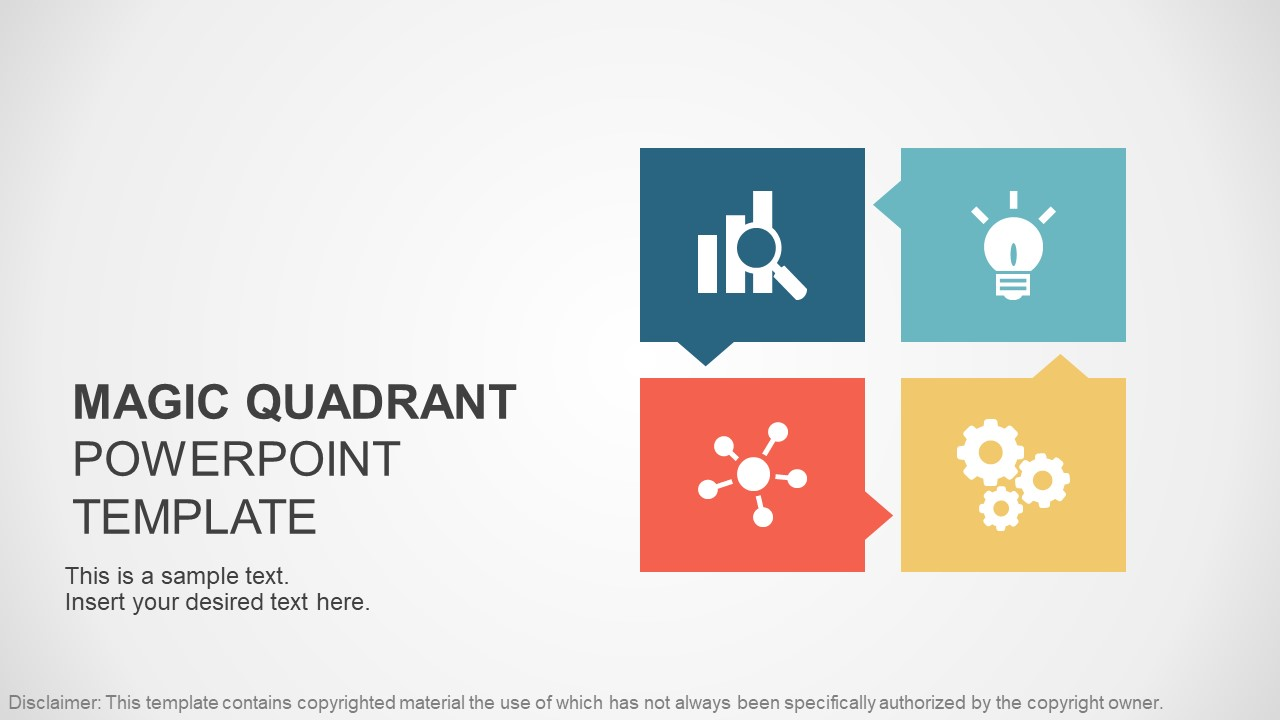 buy professional powerpoint templates - gartner magic quadrant powerpoint template slidemodel