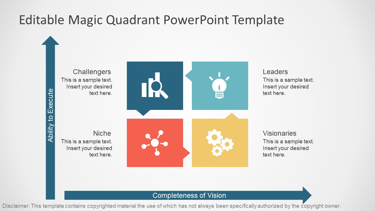 what is a design template in powerpoint - gartner magic quadrant powerpoint template slidemodel