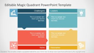PowerPoint Flat Design of Gartner Magic Quadrant