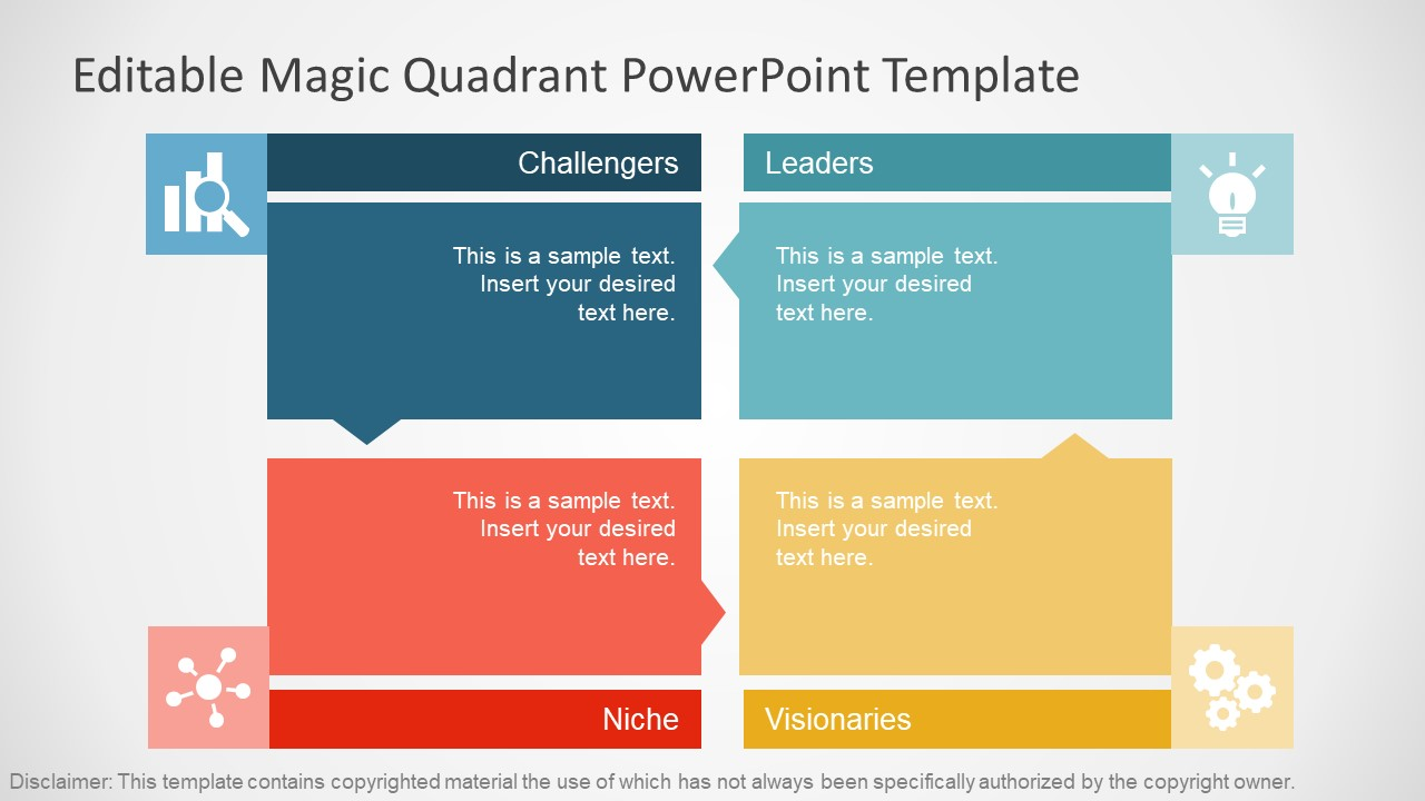 Flat gartner magic quadrant for powerpoint slidemodel toneelgroepblik Choice Image