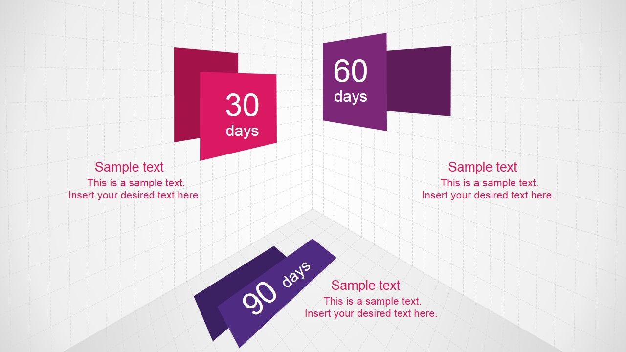30 60 90 days plan powerpoint template - slidemodel, Modern powerpoint