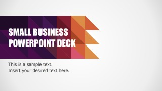 PowerPoint Modern Flat Small Business Deck