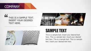 PowerPoint Slide Design for Company Profile