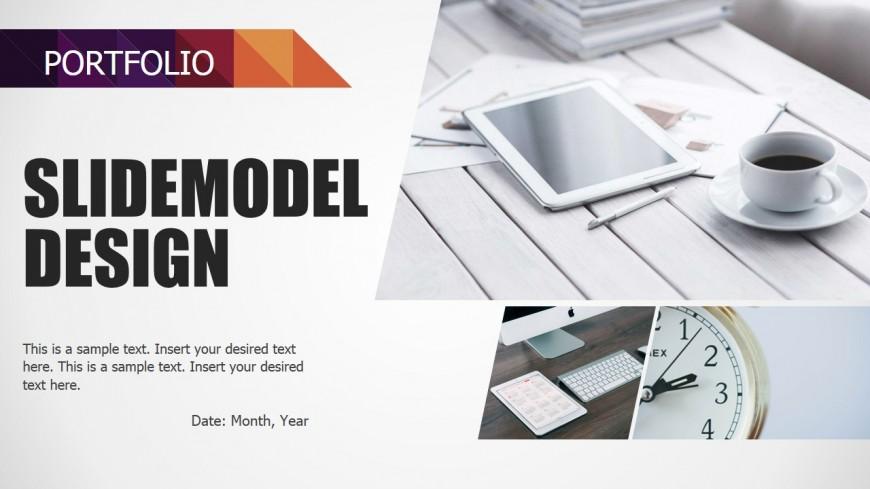 PowerPoint Design of Portfolio Section