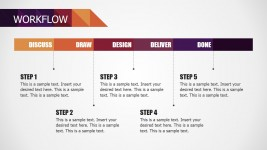 Five Steps PowerPoint Workflow Diagram for Small Business Deck