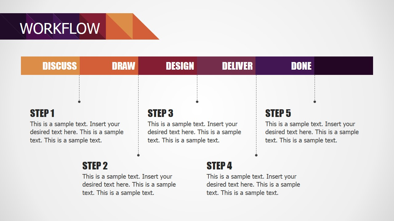 PowerPoint Diagram for Small Business Workflow