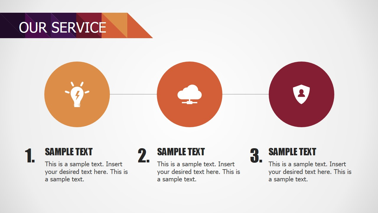 powerpoint 3 steps services diagram