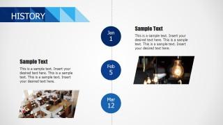 PPT Vertical Timeline History Design
