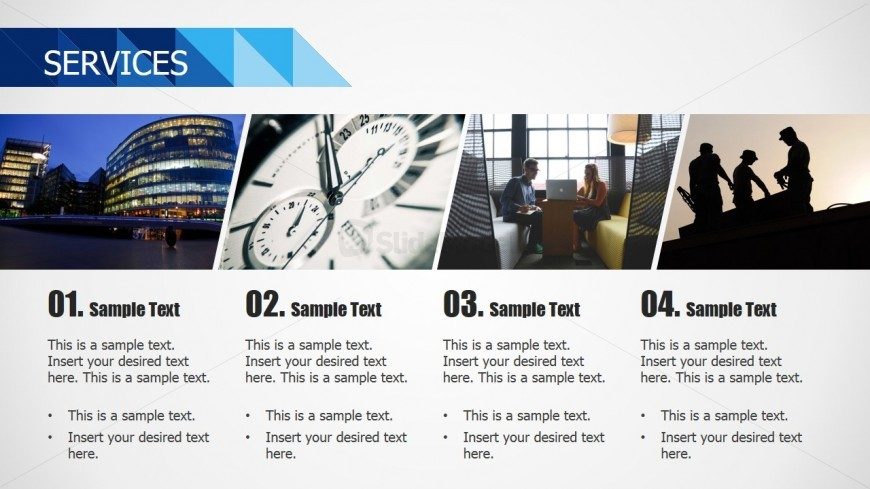 PowerPoint Template Blue Business Theme Services