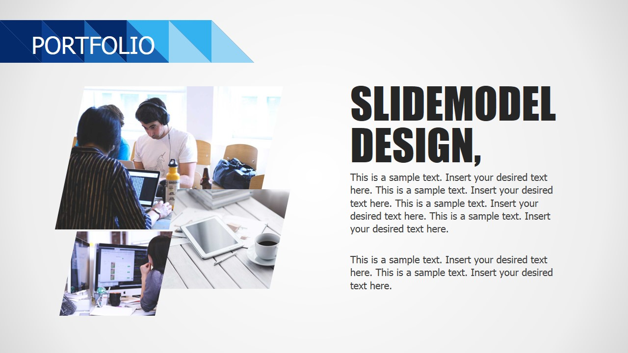 PPT Slide Design for Portfolio Section