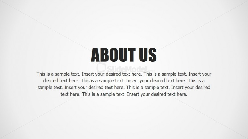 PPT Template About Us Design