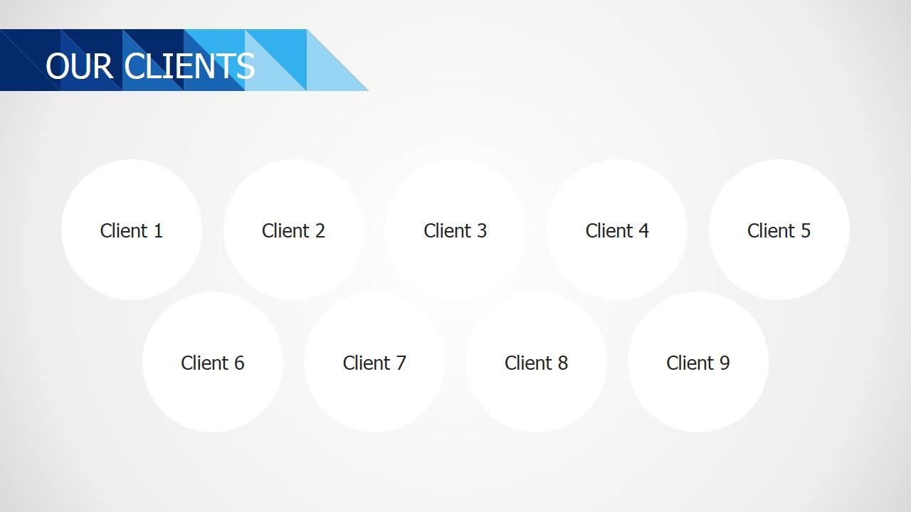 PPT Logo Placeholders Slide Design