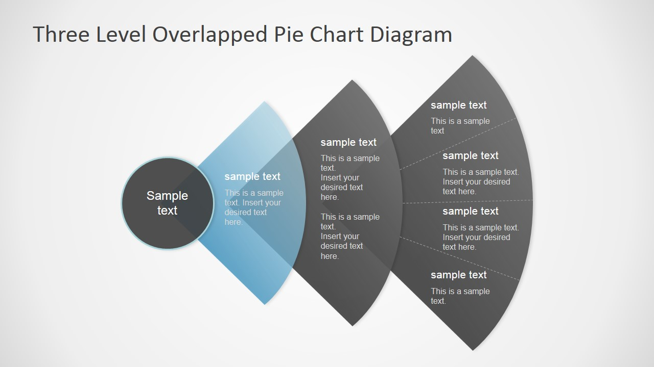 Three Level Overlapped Pie Chart Diagram on Pie Chart Color Palette