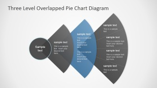 PowerPoint 3 Steps Diagram with Overlapped Segments