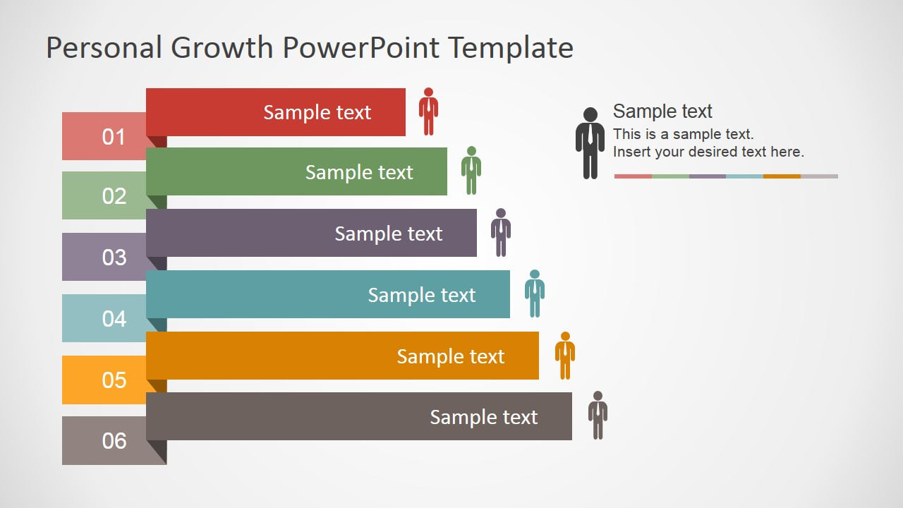 PowerPoint Slide Featuring Personal Growth; PowerPoint Folded Labels Shapes  For Personal Development Plan ...