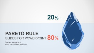 PowerPoint Design of Pareto Rule with Iceberg Clipart