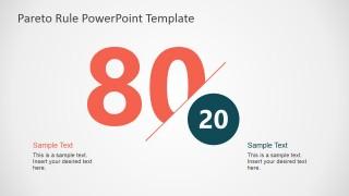 PowerPoint 80-20 Rule Pareto Metaphor Design
