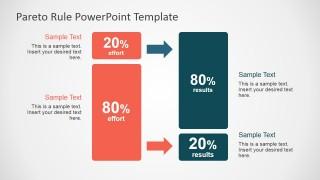 PowerPoint Clipart Metaphor Describing 80-20 Rule