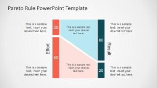 PowerPoint Shapes Describing Pareto Rule