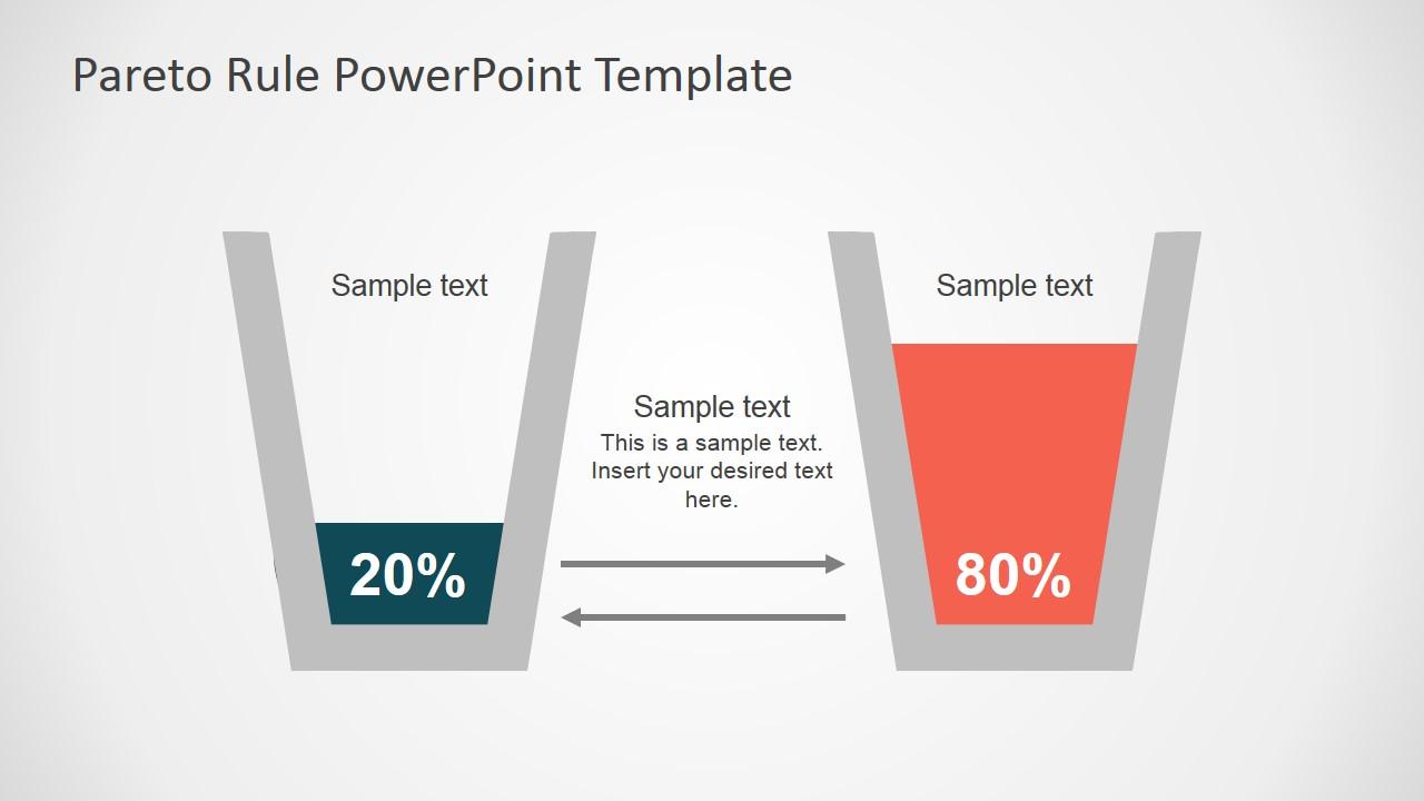 Pareto principle powerpoint template slidemodel chart pareto principle metaphor powerpoint design of 80 20 principle glass clipart nvjuhfo Gallery