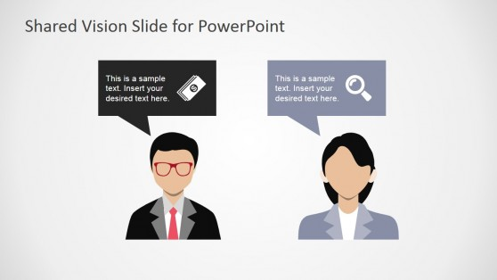 Opposing Ideas Conflict Resolution PowerPoint Template
