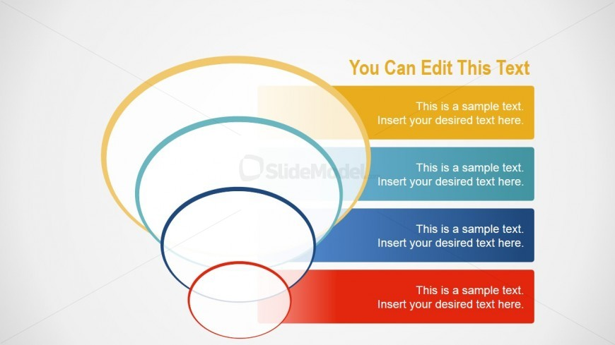 PowerPoint Flat Circles Featuring Funnel