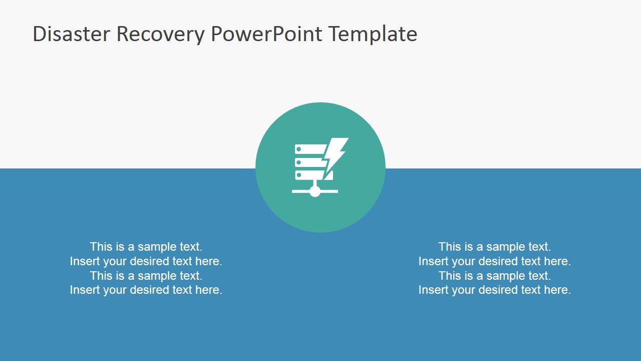 Disaster recovery powerpoint template slidemodel powerpoint slide theme disaster recovery powerpoint icon featuring server crash toneelgroepblik Choice Image