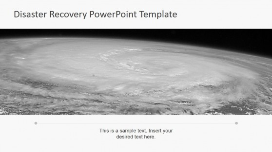 Hurricane Satellite Visual PowerPoint Background