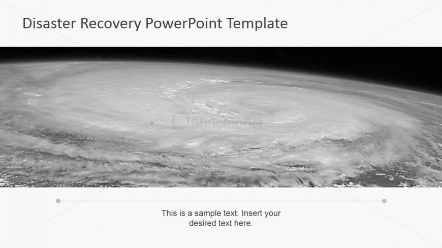 PowerPoint Background Photo of Hurricane from Space