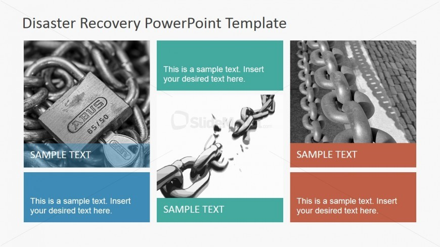 PowerPoint Slide with Padlocks and Chains Photos