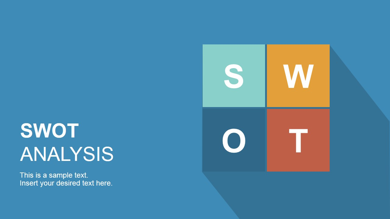 Flat swot powerpoint template slidemodel flat design swot analysis template for powerpoint alramifo Images