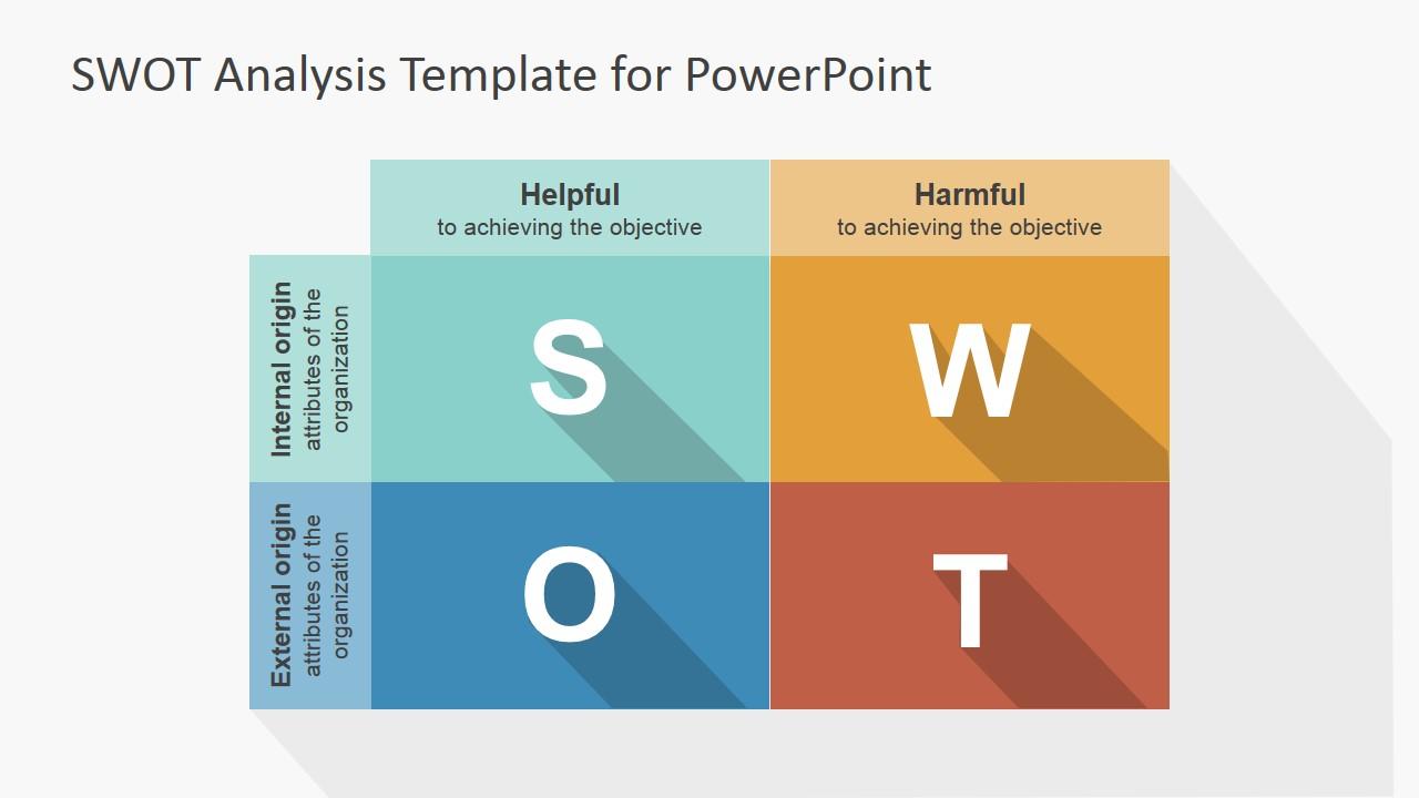 Flat swot powerpoint template slidemodel for Swott template