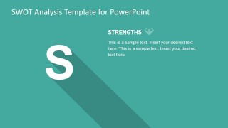 PowerPoint Description Slide for SWOT Strengths