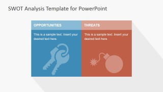 PowerPoint Slide External SWOT Analysis Factors