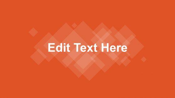 Presentation Cover Slide in Orange