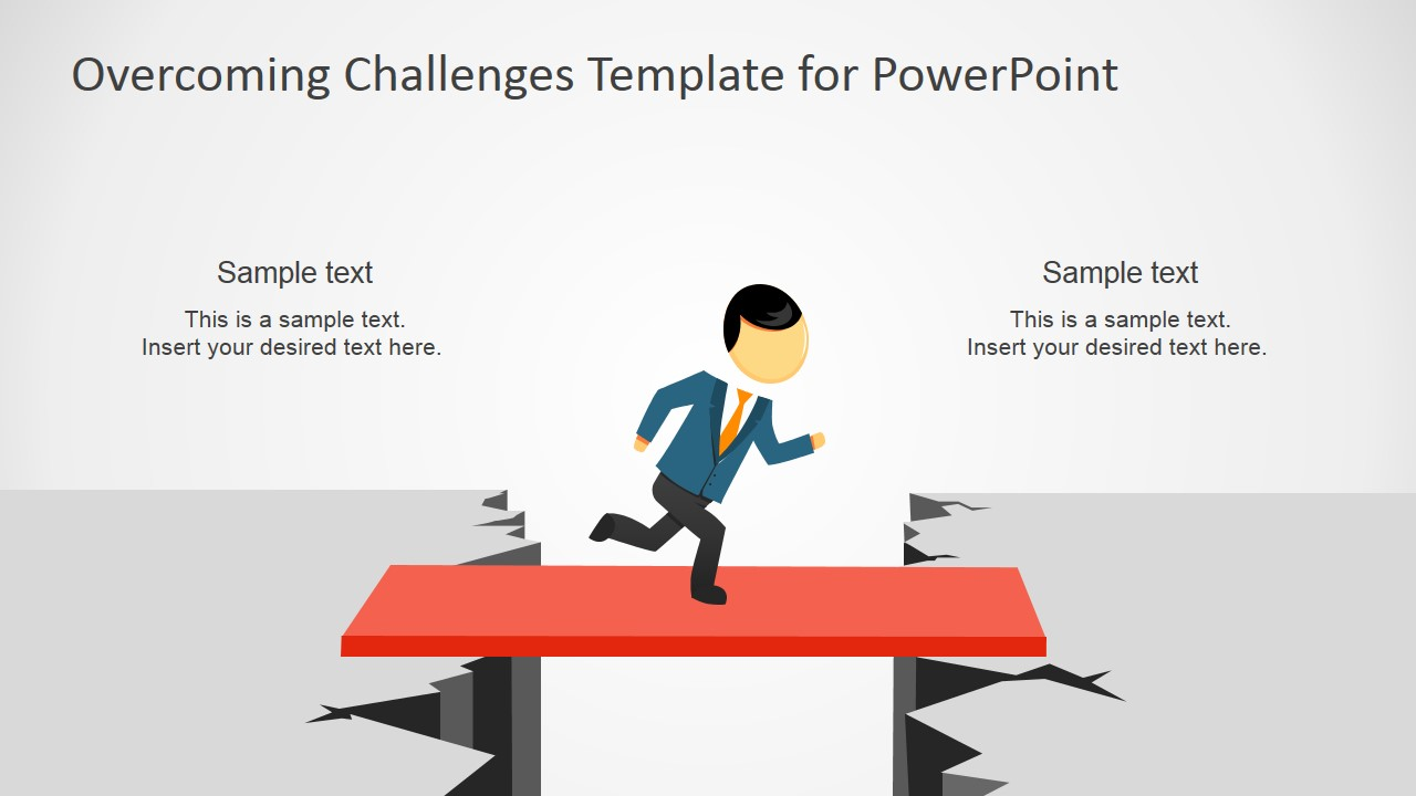 PowerPoint Clipart Crossing the Chasm over a Board