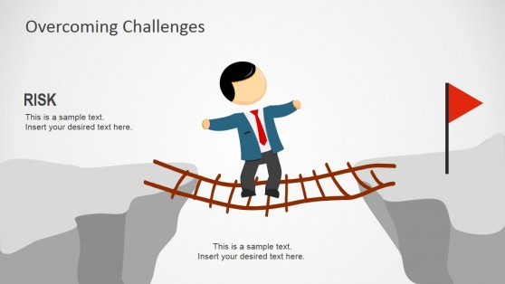 Crossing The Chasm with Unstable Ladder Horizontally