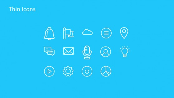 Technology Thin Icons for PowerPoint