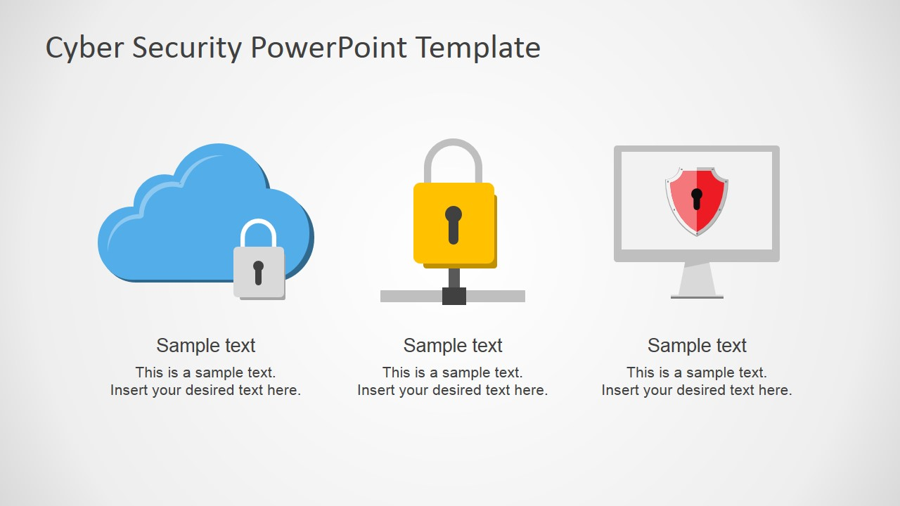 Cyber security powerpoint template slidemodel powerpoint shapes featuring computer networks toneelgroepblik Gallery