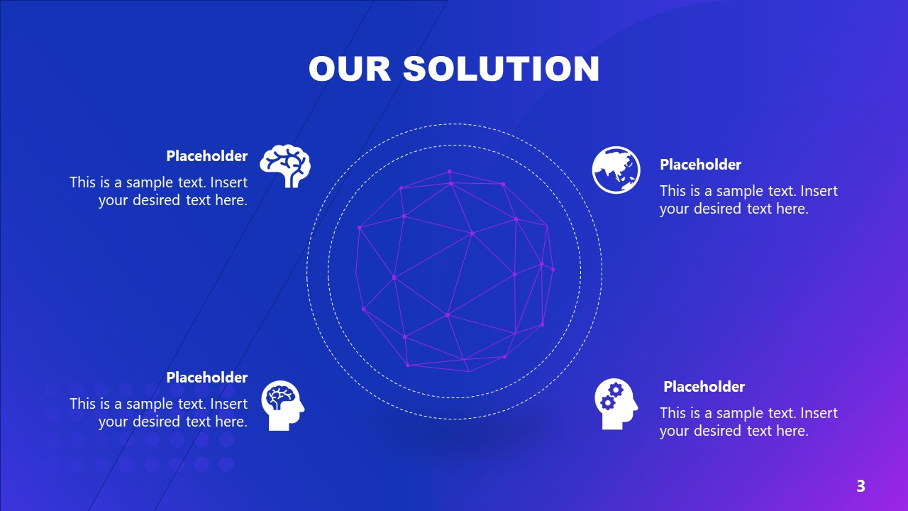 PowerPoint Diagram 4 Steps AI Technology