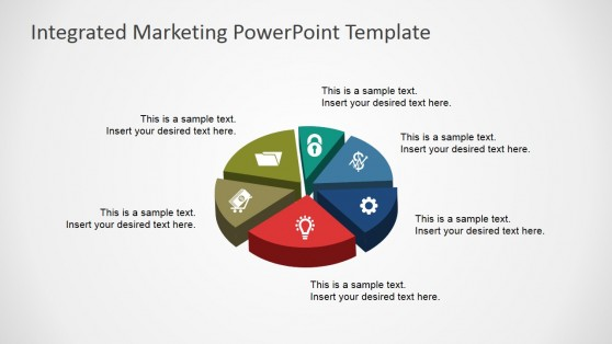 3D Pie Chart for PowerPoint with Icons