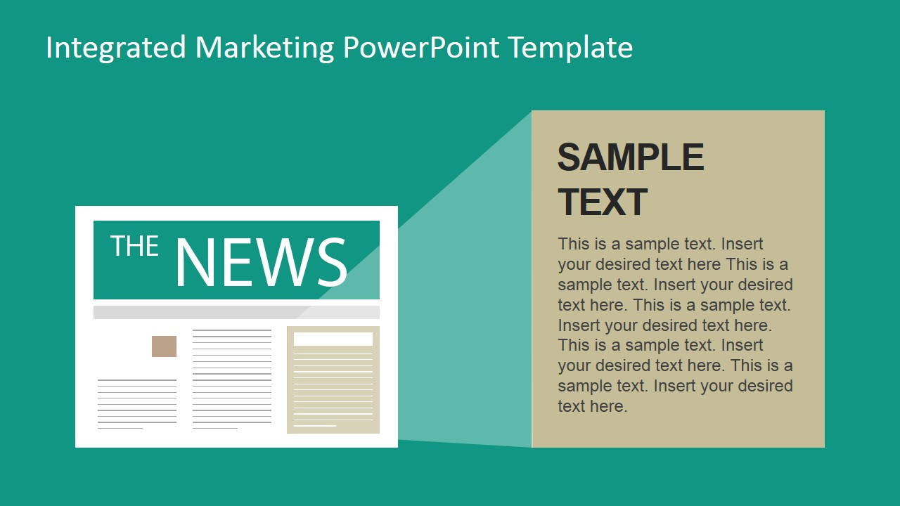 news traditional marketing channel clipart for powerpoint - slidemodel, Modern powerpoint