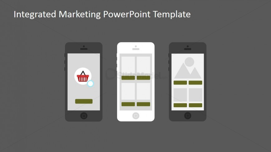 PowerPoint Clipart featuring Different Smartphones