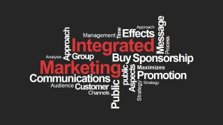 Integrated Marketing PowerPoint Word Cloud Black