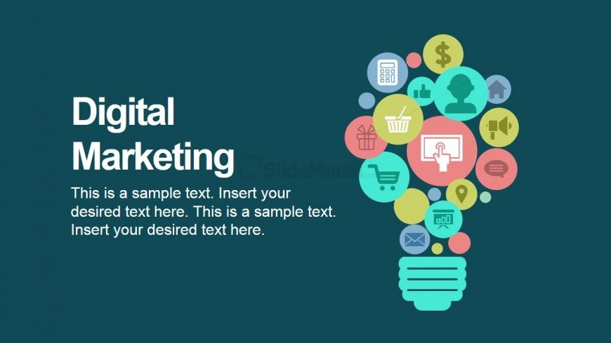 digital marketing powerpoint icons - slidemodel, Modern powerpoint