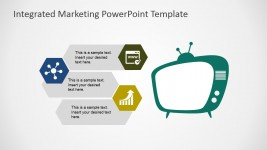 Television Marketing Channel PowerPoint Shapes